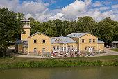 istock Old boat station, and spa hotel now. Kuressaare, Saaremaa island, Estonia 1263901034