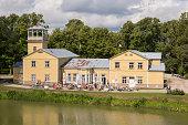 istock Old boat station, and spa hotel now. Kuressaare, Saaremaa island, Estonia 1263901076