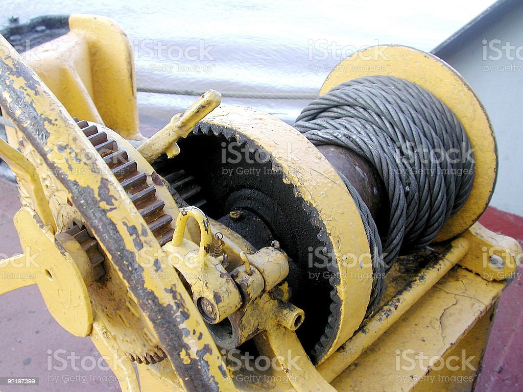 Old Boat Winch royalty-free stock photo