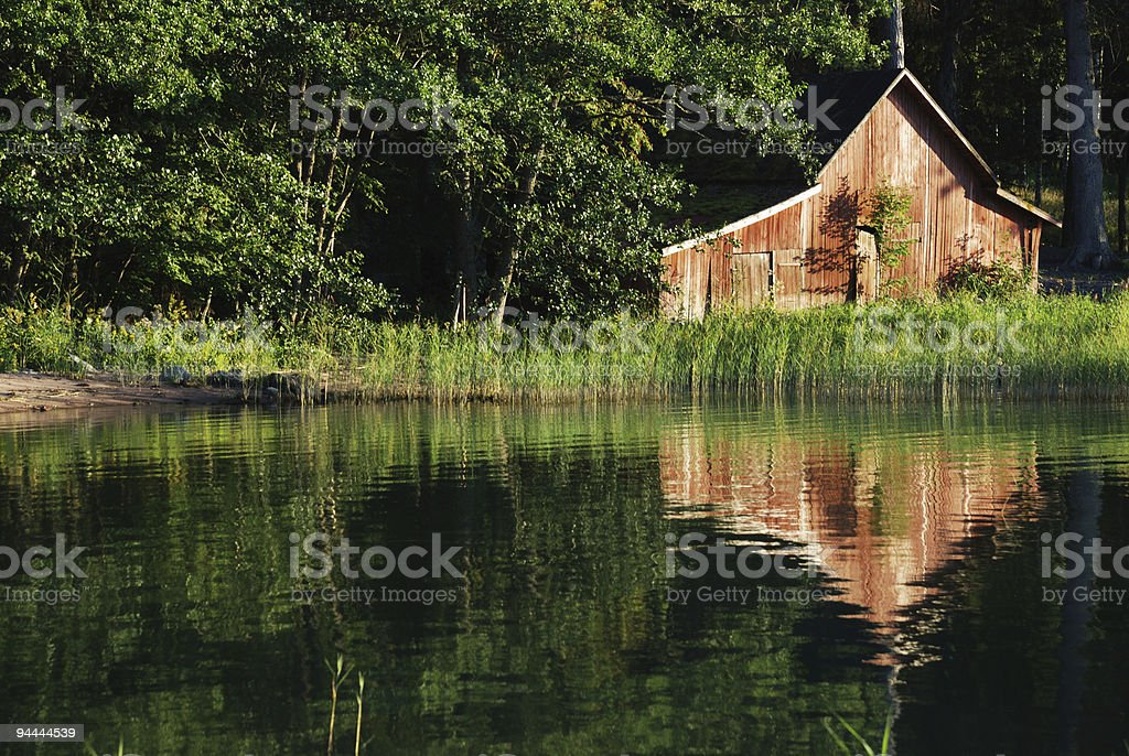 old boat-house royalty-free stock photo