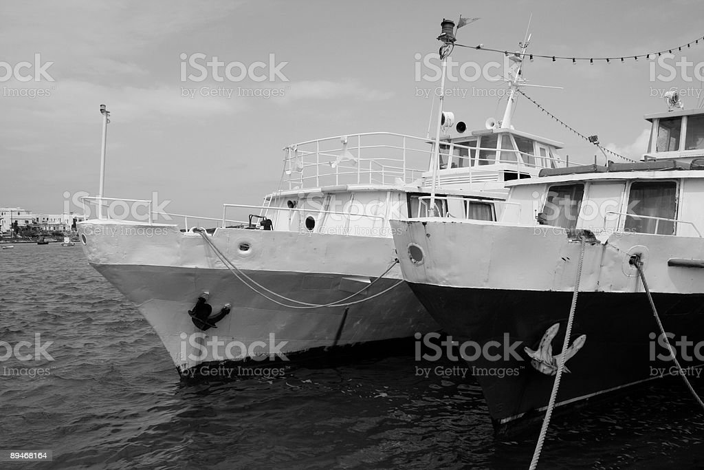 Old boats, Greece royalty-free stock photo