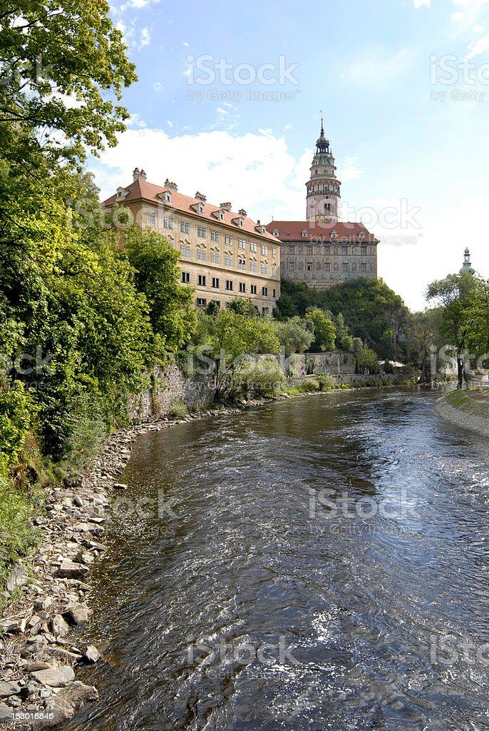 old Bohemian town Cesky Krumlov royalty-free stock photo