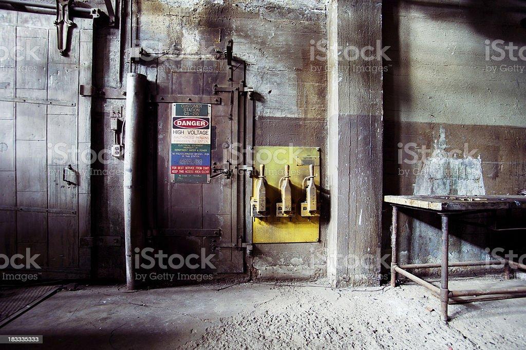 Old boiler room stock photo