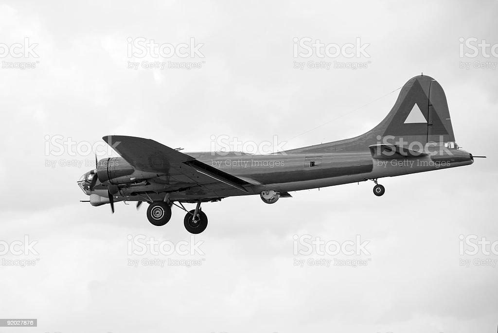Old bomber stock photo