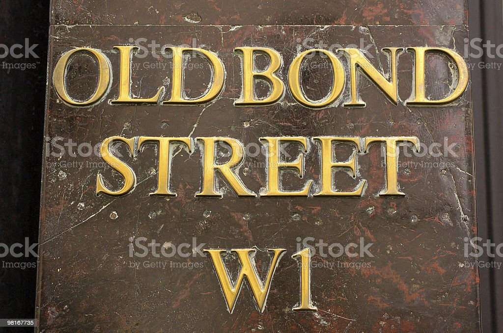 Old Bond Street royalty-free stock photo