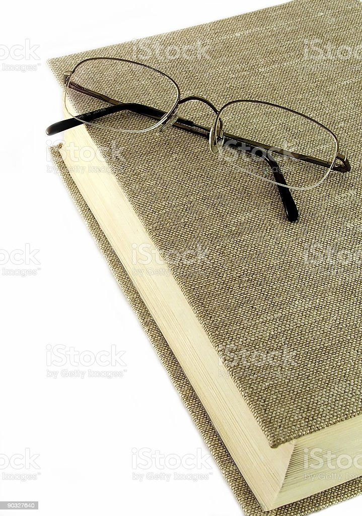Old Book and Glasses royalty-free stock photo