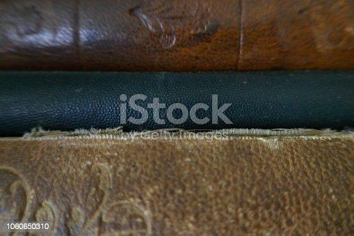 Old book bindings background