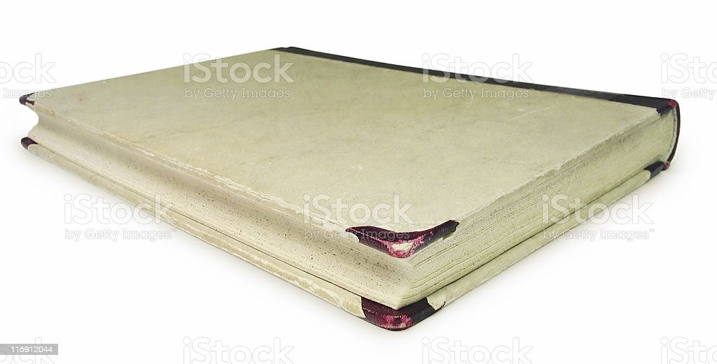 Old Book (Isolated) - Clipping path royalty-free stock photo