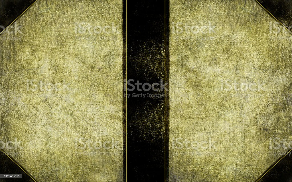 Old Book Cover - Front, Back, and Spine. royalty-free stock photo