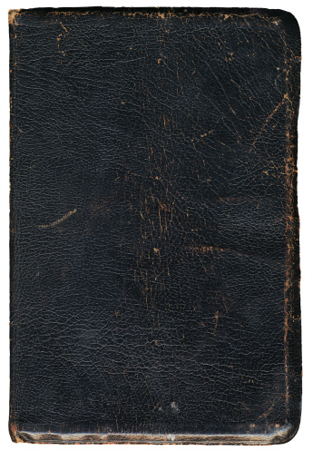 aged black book cover