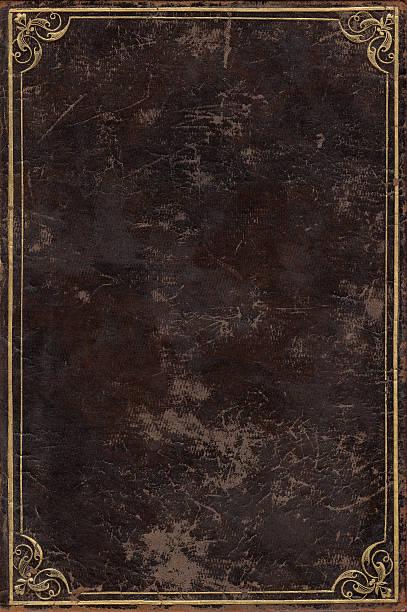 Altes Buch-cover Oberfläche mit braunem Leder – Foto