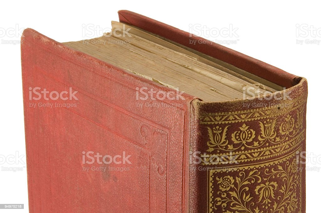 Old book detail royalty-free stock photo
