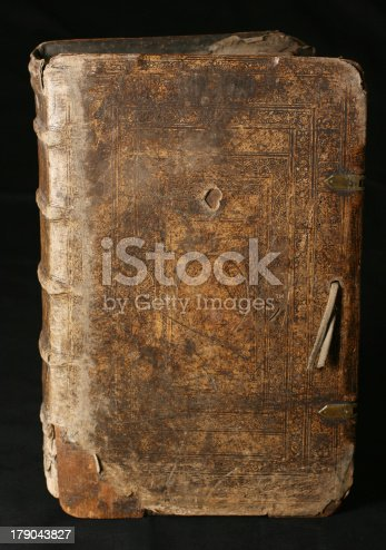 121305595 istock photo Old book from 16th Century 179043827