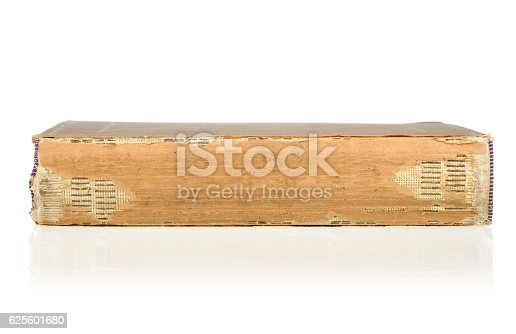 121305595 istock photo Old book isolated on white background. 625601680