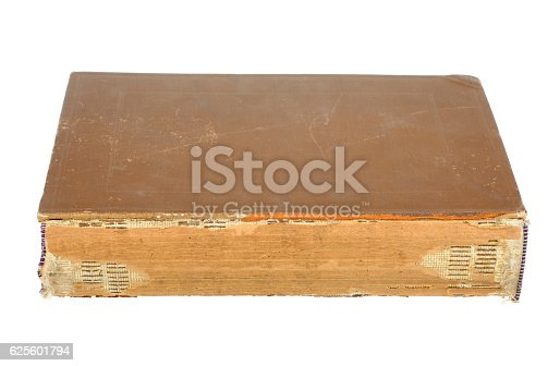 121305595 istock photo Old book isolated on white background. 625601794
