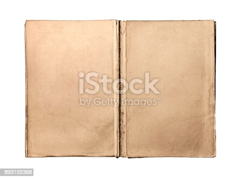 istock Old Book isolated 893155368