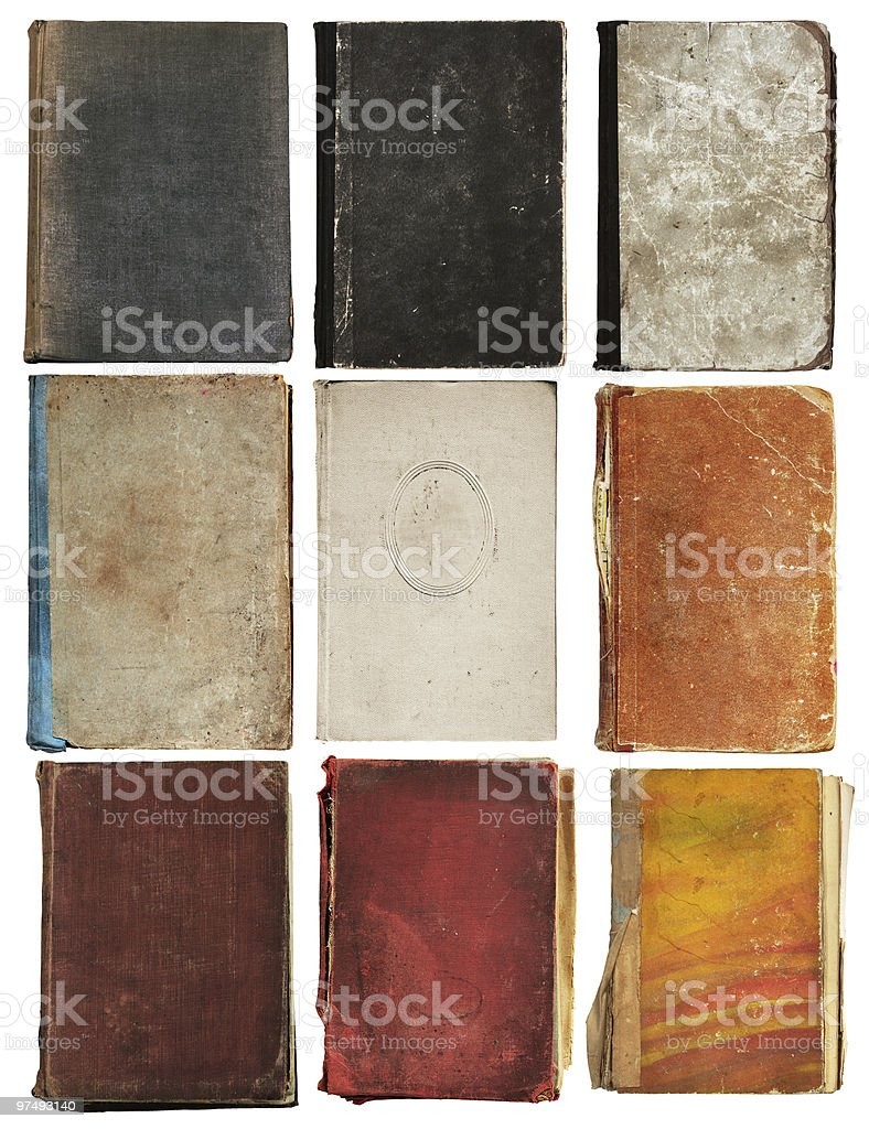 old book isolated royalty-free stock photo