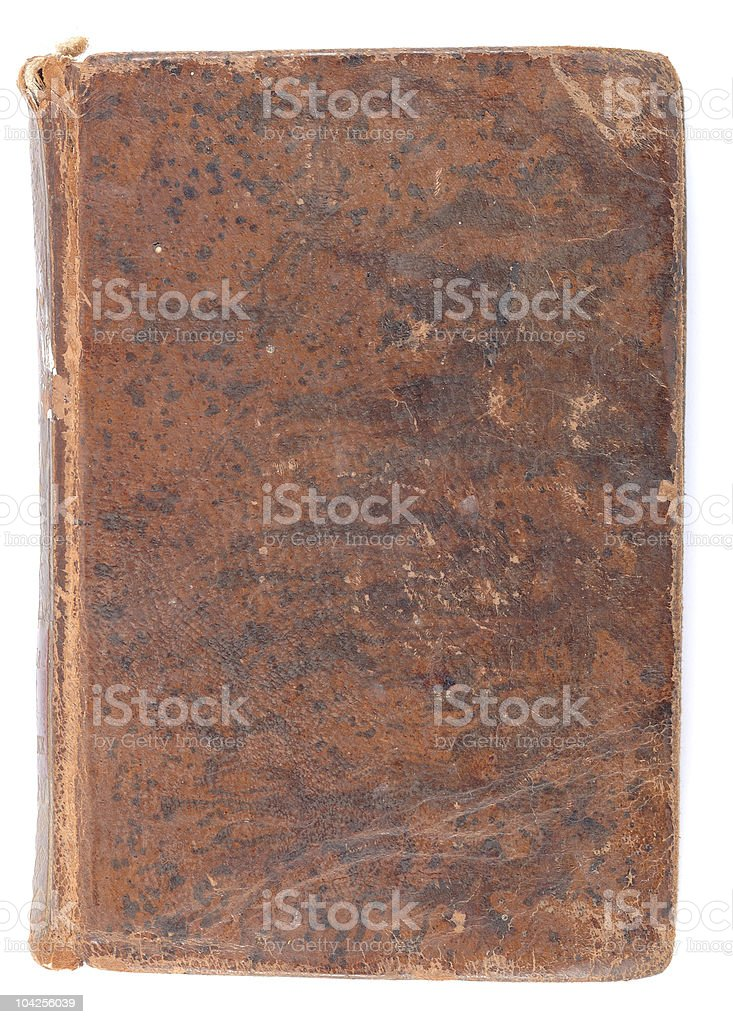 Old book leather cover royalty-free stock photo