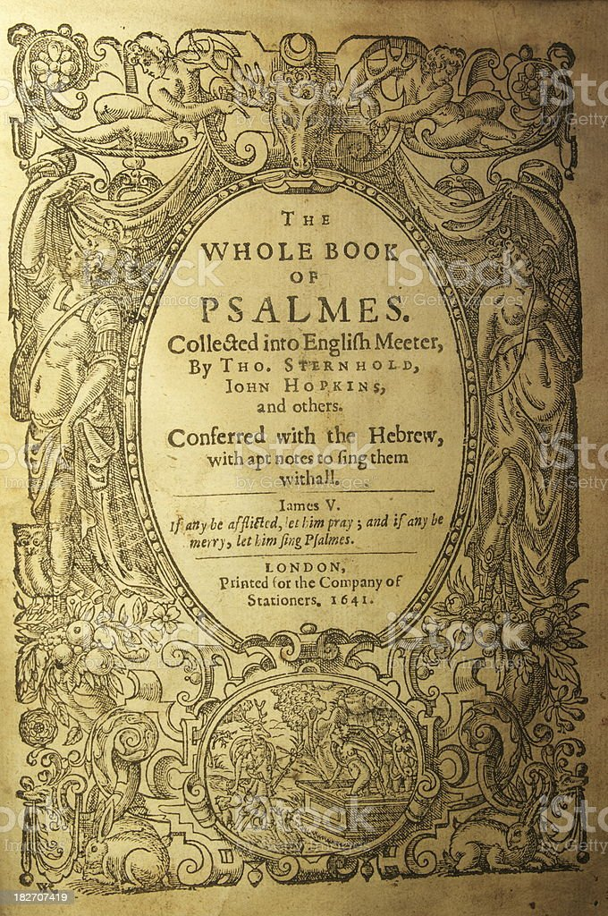 Old book of psalms stock photo