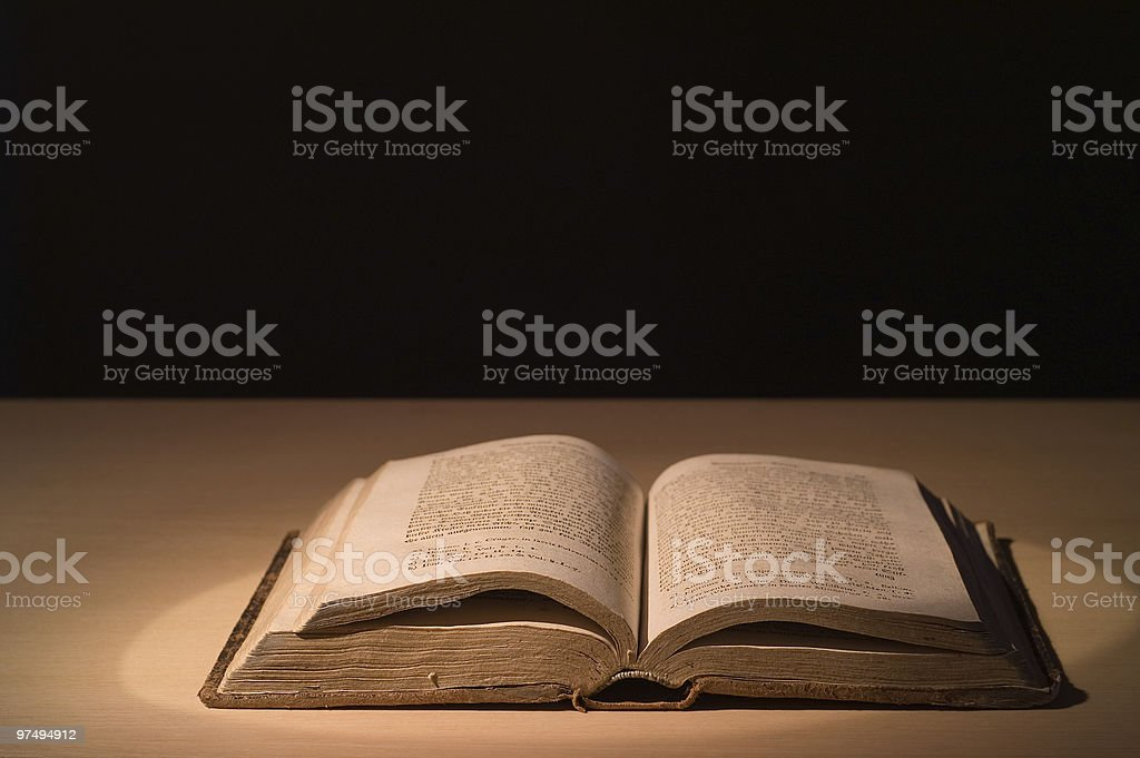 Old book on a table. royalty-free stock photo