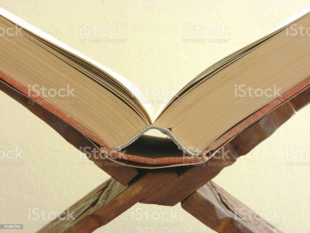 Old book on Stand stock photo