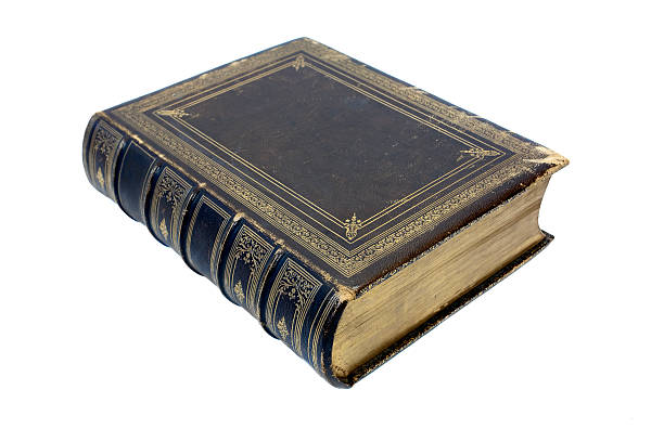 old book on white - thick stock pictures, royalty-free photos & images