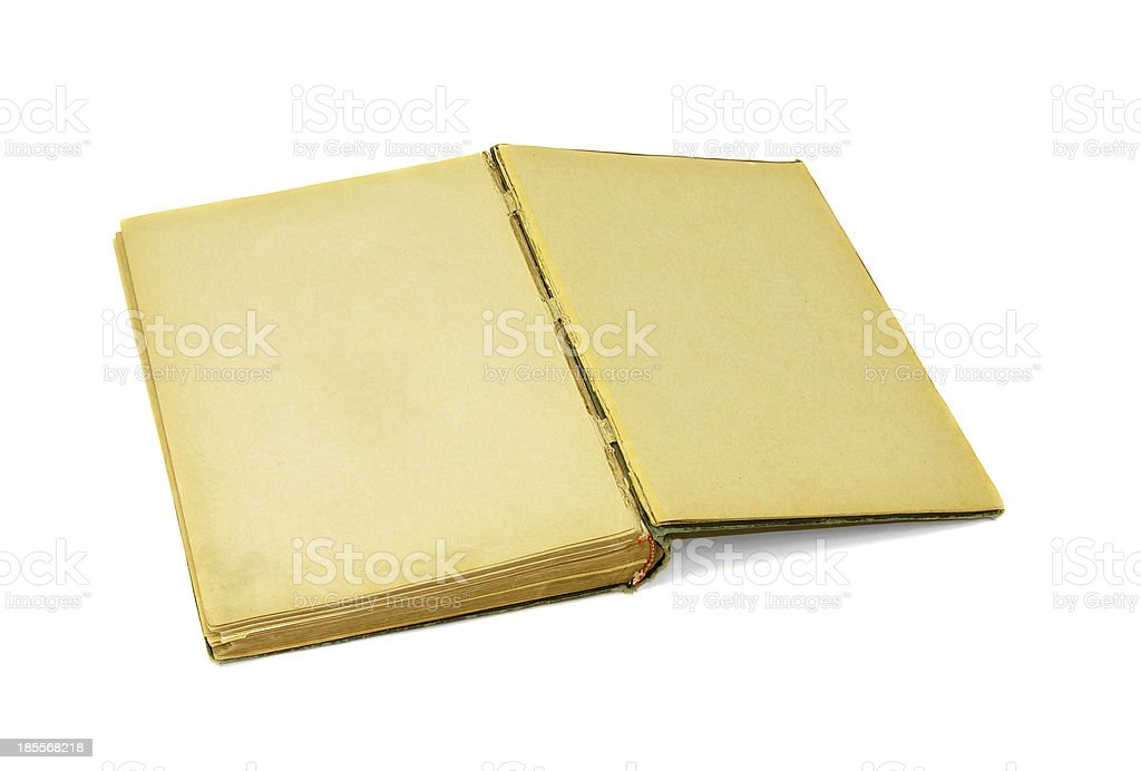 Old book Open two face on white background royalty-free stock photo