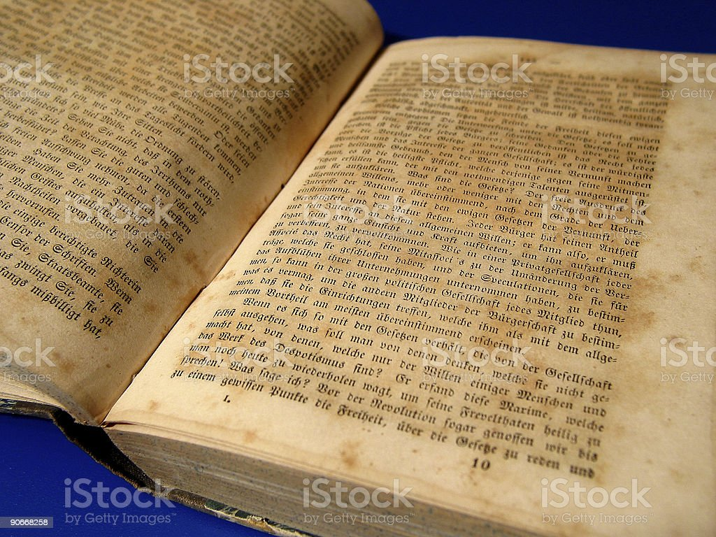 Old book (1789!) royalty-free stock photo