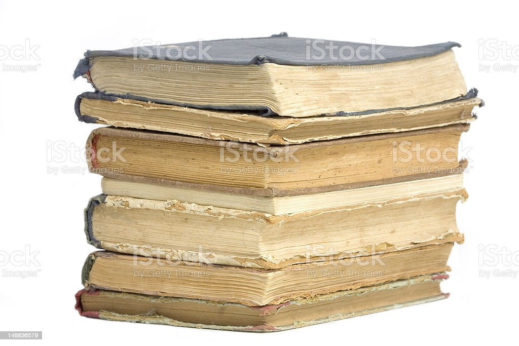 Old Book pile royalty-free stock photo