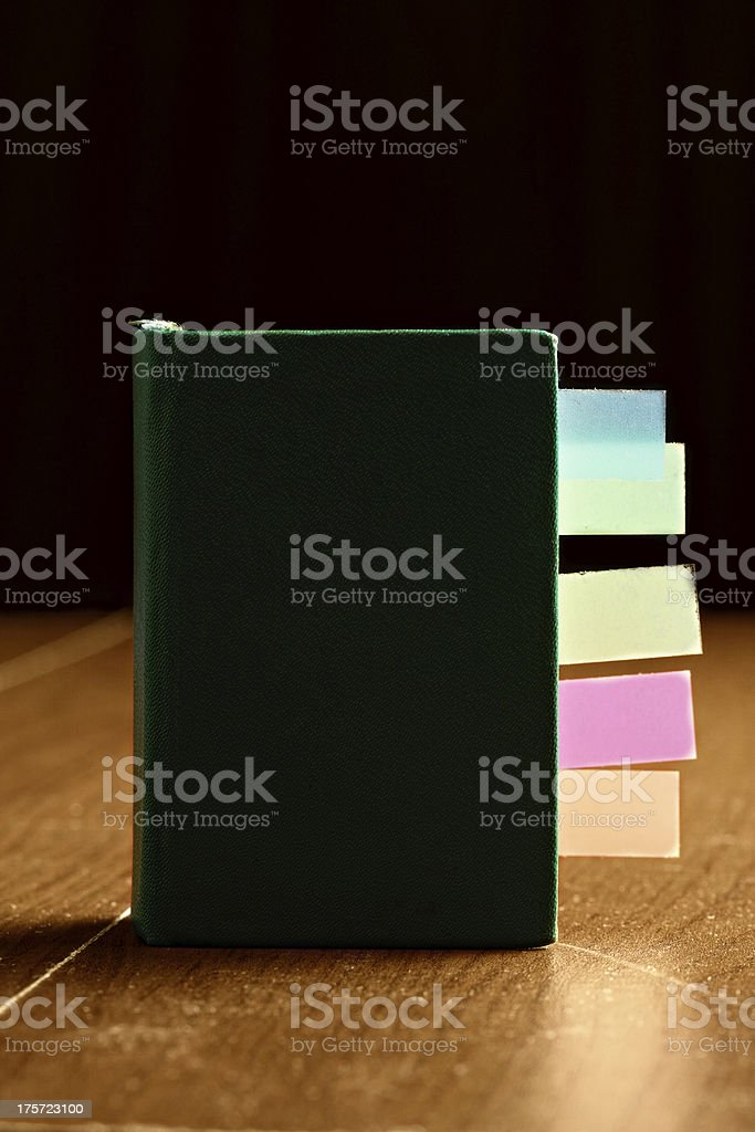 Old book with bookmarks stock photo