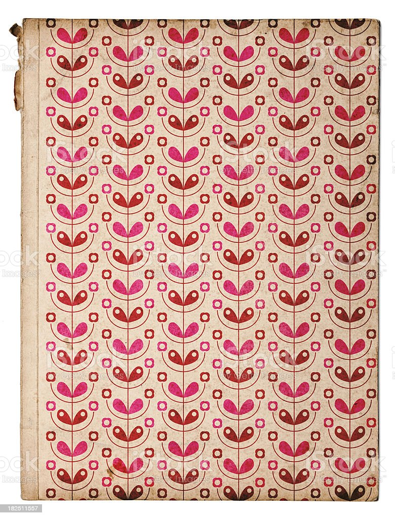 Old book with floral pattern stock photo