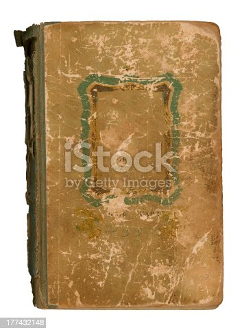 istock Old book with frame isolated on white 177432148