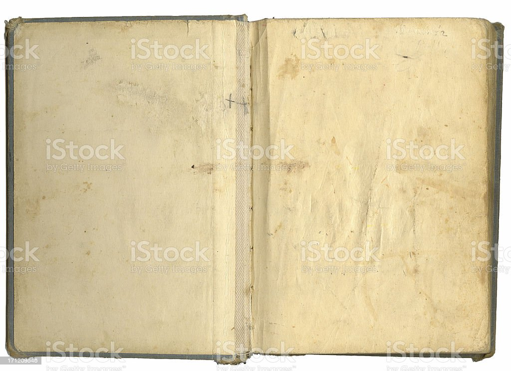Old Book with Stains royalty-free stock photo