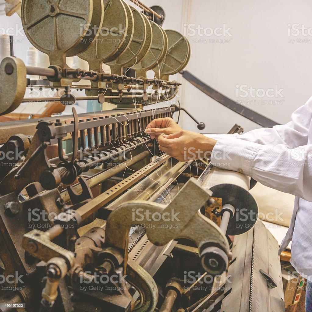 old bookbinding machine stock photo
