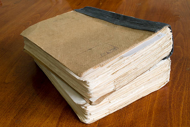 old book-keeping document old book-keeping document on table append stock pictures, royalty-free photos & images