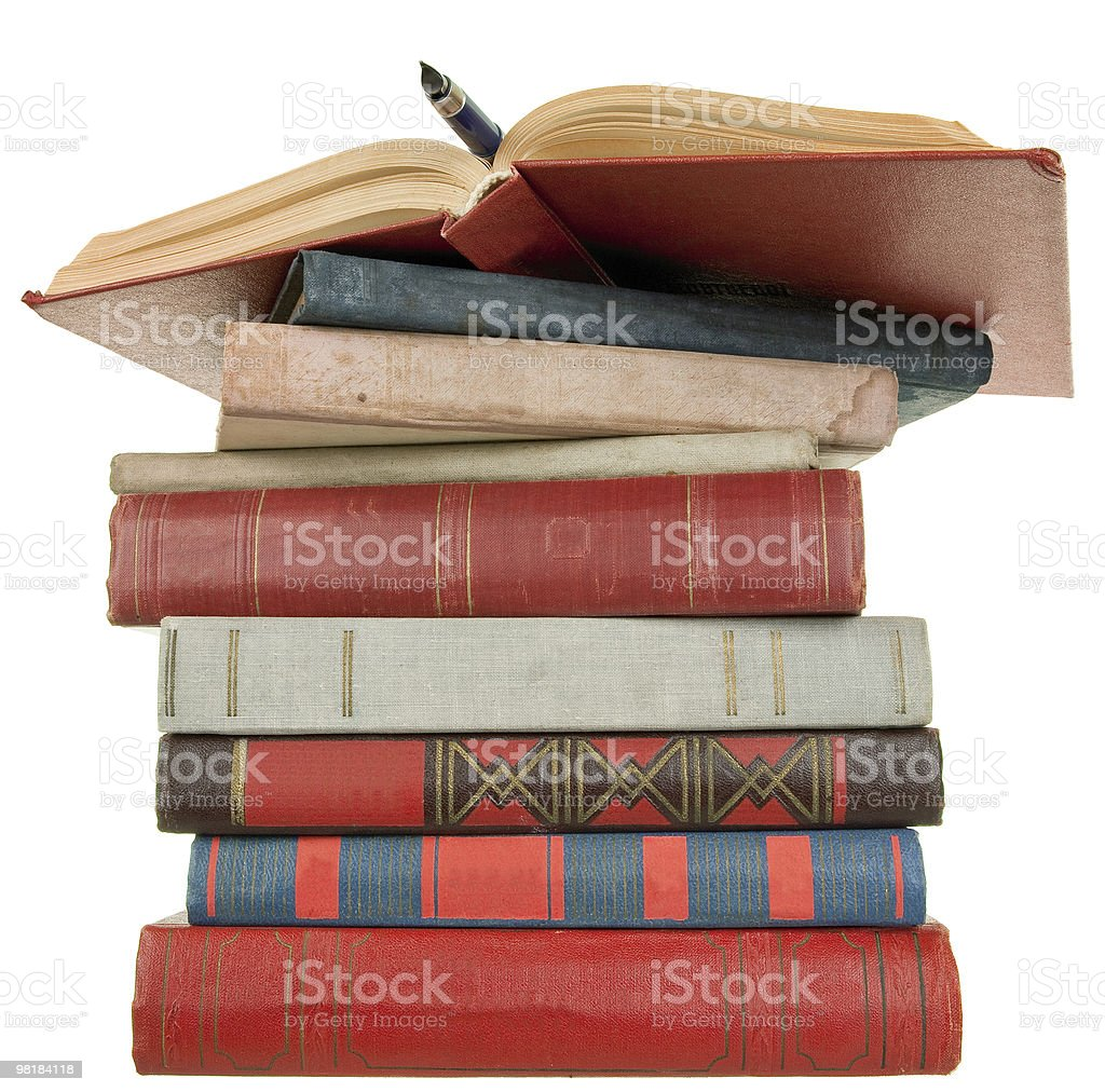 old books and pen royalty-free stock photo