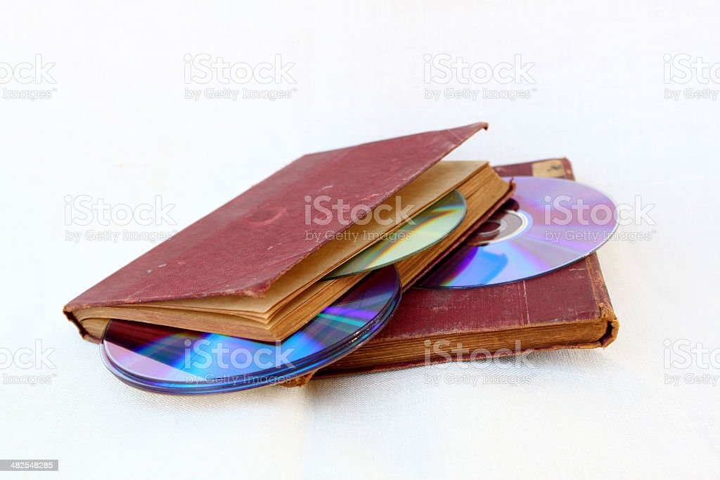 old books and their modern form stock photo