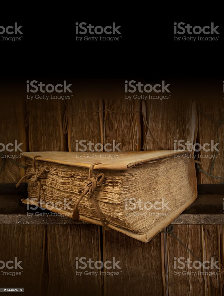 Old books. Clipping path stock photo