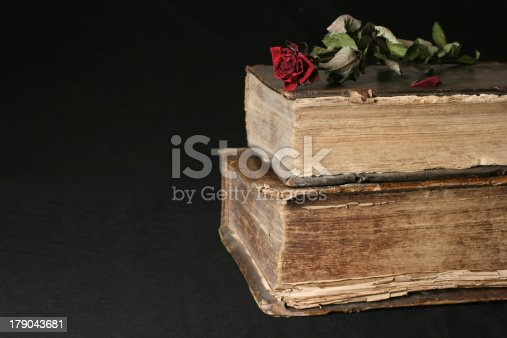 121305595 istock photo Old books from 16th Century 179043681