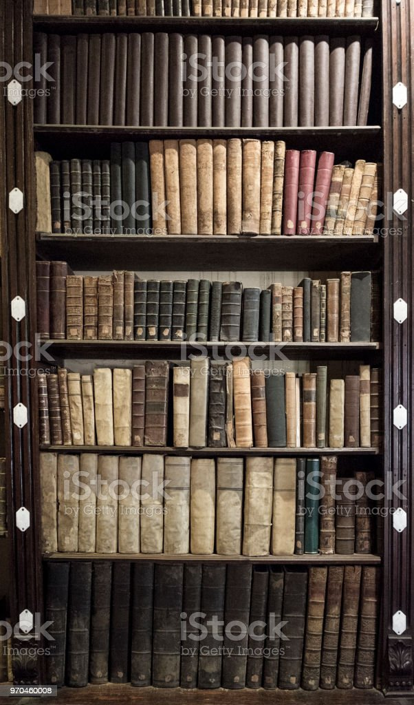 Old Books In A Bookcase royalty free stock