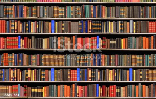 istock Old books in a library - BIG FILE 135341581