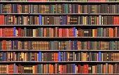 Old books in a library - BIG FILE