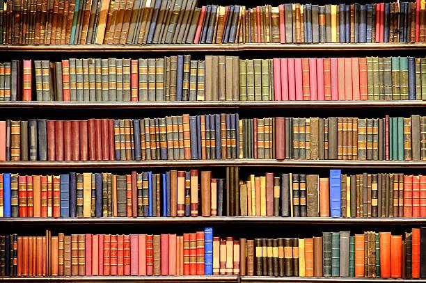 Old books のライブラリー ストックフォト