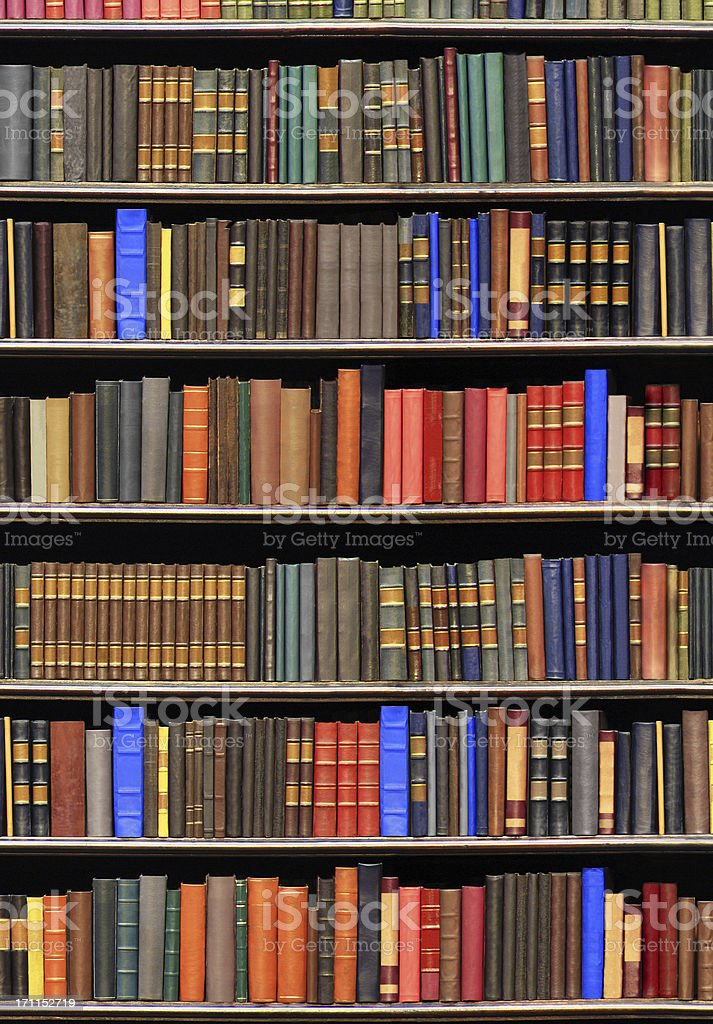 Old books in a library royalty-free stock photo