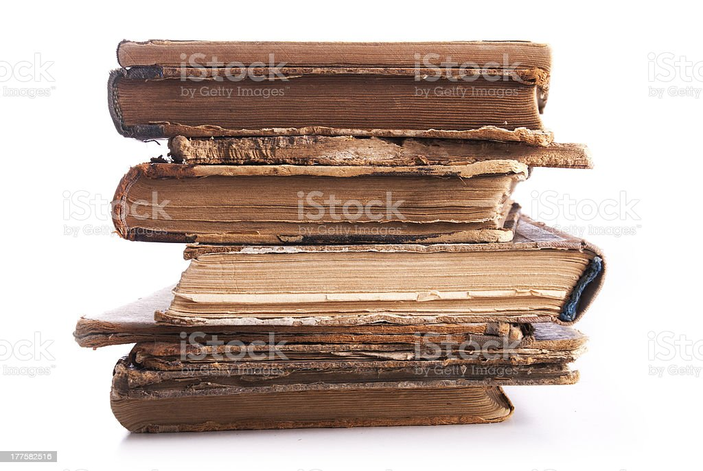 Old books. Isolated on white. royalty-free stock photo