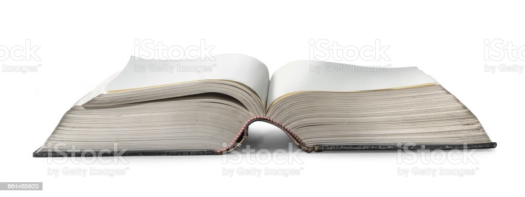 old books isolated stock photo
