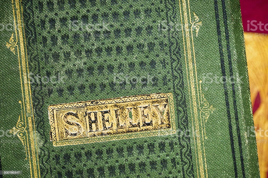 Old books: Shelley's Poetical Works stock photo