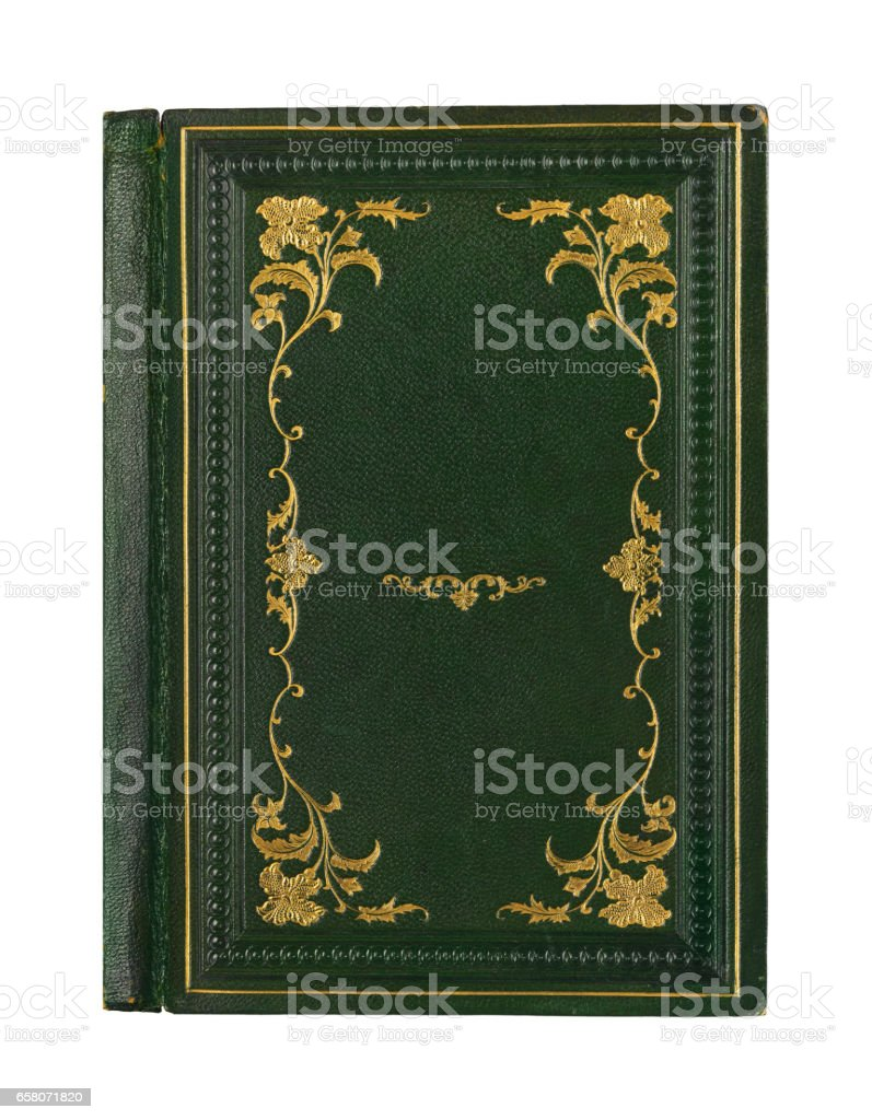old books with vintage bindings and beautiful gilded leather book covers royalty-free stock photo