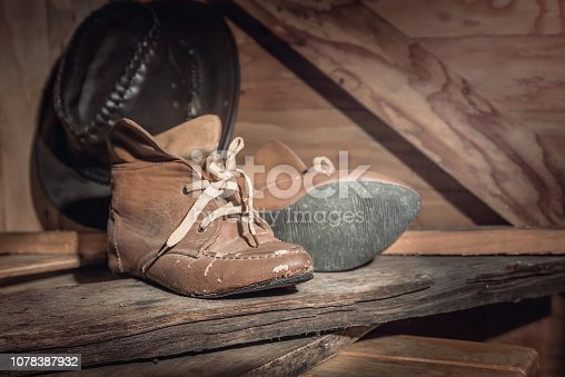Old boots in the barn