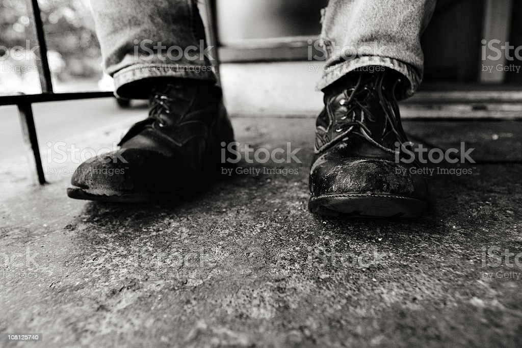 Old Boots royalty-free stock photo